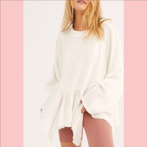 Free People Gold Dust Pullover Ivory Size L NWT